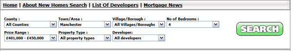 Example of a search for Manchester Properties with 4 Bedrooms costing between �401,000 and �450,000